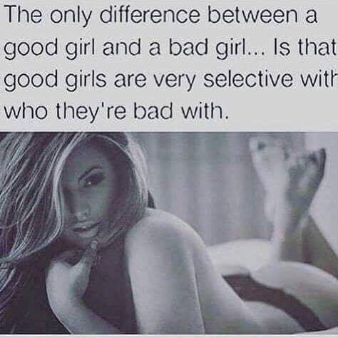 hot bad girls and cute good girls